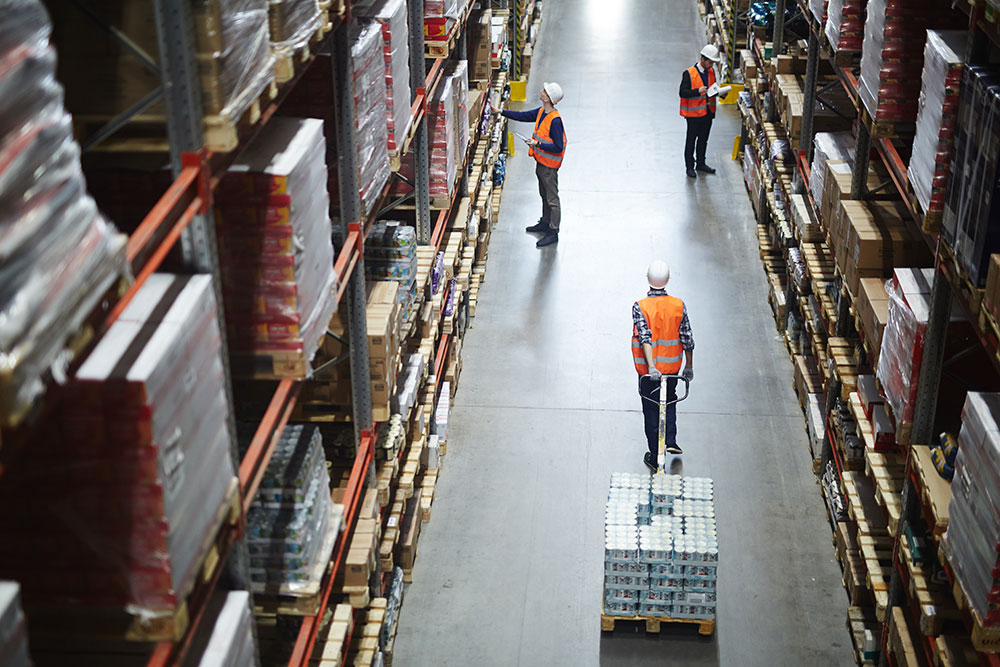 Busy Warehouse Personnel During Peak Season