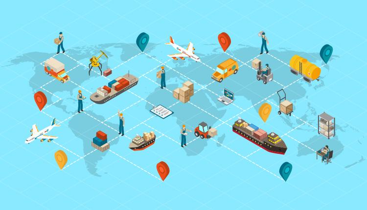 Logistics Management Illustration